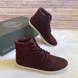 Timberland Burgundy Dausette Sneaker Boots